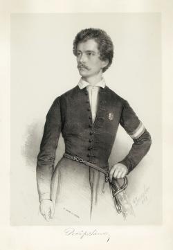 Barabás Miklós rajza után Walzel Ágost Frigyes: Petőfi térdképe, 1848
