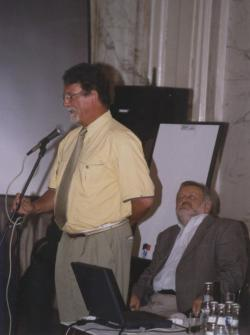 Jankovics Marcell, az NKA elnöke és Praznovszky Mihály, a PIM főigazgatója