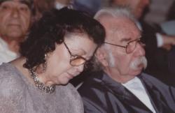 Határ Győző és felesége