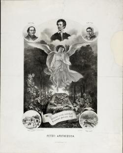 Franz Kollarž rajza után J. Jost: Petőfi apotheosisa