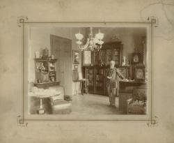 Jókai  Mór a dolgozószobájában, Erdélyi Mór felvétele, 1892