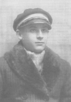 Takáts Gyula tizenhat évesen (1927)