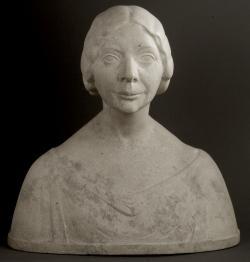 Fémes Beck Vilmos: Kaffka Margit mellszobra, 1913