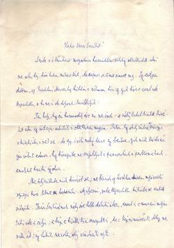 Németh László levele Vezér Erzsébethez