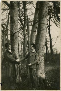 Illyés Gyula és József Attila, Arató Tibor (?) felvétele, 1931