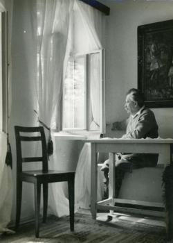 Móricz Zsigmond otthonában, Kálmán Kata felvétele, 1937