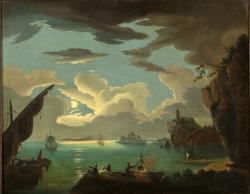 Kisfaludy Károly: Kikötő holdfényben, 1820-as évek