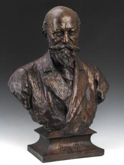 Zala György: Jókai Mór mellszobra, 1893