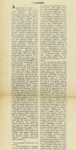 Márai Sándor: Cselédek című cikkének kefelevonata