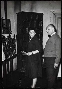 Feleségével,  Szántó Piroska festőművésszel (1972)