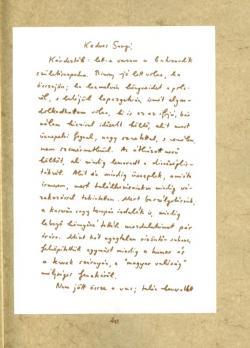 Kodolányi Gyula: Levél