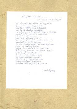 Gömöri György: Álom 1986 márciusában