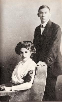 Áprily Lajos és Schéfer Ida esküvői képe, 1911