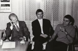 Író-olvasó találkozó Angyal Jánossal és Kovács Istvánnal (1968 körül)