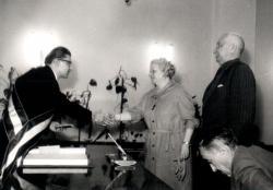 Tersánszky Józsi Jenő és Szántó Margit házasságkötése (1965)