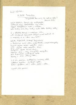 Ladik Katalin: A költő köszöntése