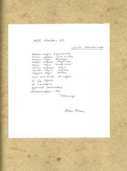 Mózsi Ferenc: 1989. október 23