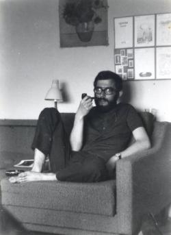 Szekszárdi otthonában (fotó: Rácz Miklós, 1973)