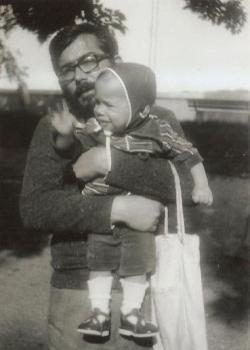 Tamás fiával (1979 körül)