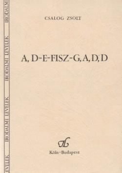 A, D-E-Fisz-G, A, D, D (1989)