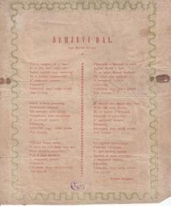 A Nemzeti dal ritka, kolozsvári kiadása 1848-ból