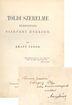 Arany János: Toldi szerelme. Elbeszélés 12 énekben. Buda-Pest, 1879.