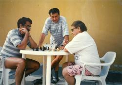 Szigliget, 1990-es évek eleje, Görömbei Andrással és Márkus Bélával