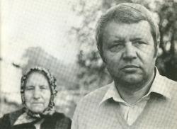Bertók László édeseanyjával (1985)