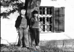 Nagy László és Szécsi Margit Szigligeten (1960-as évek) (Fotó: Berza László)