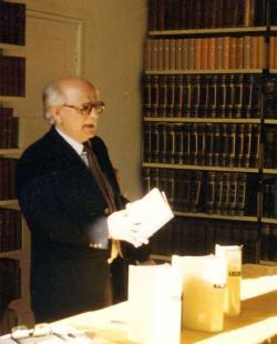 Bodnár György előadás közben