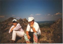 Bodor Béla és felesége a Nagy-kő csúcsán