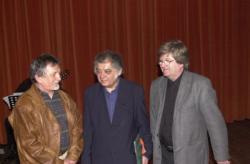 Buda Ferenccel és Csoóri Sándorral a Debreceni Irodalmi Napokon (2003)