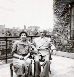 Kántor Péter apai nagyanyja, Klein Cecília és nagyapja, Weisz Sámuel