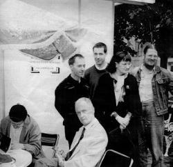 Dedikálás 1994 Ünnepi Könyvhetén (Balról: Várady Szabolcs, Orbán Ottó, Zelki János )