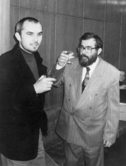Déry Tibor-díj ünneplése Darvasi Lászlóval (1993)