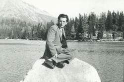 Lator László a Tátrában a Csorba-tónál, 1956 nyara