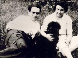 Bátory Irénnel Rákoshegyen, 1938