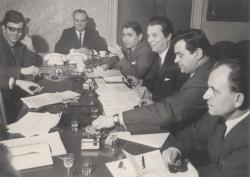 A Csemadok vezetőségével, 1968 április