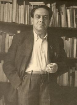 Zelk Zoltán, 1950 körül (fotó: Better Dezső)