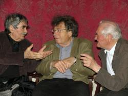 Juhász Ferenc, Konrád György és Kányádi Sándor (2007, DIA)