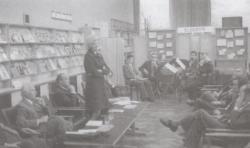 A Könyvhét pécsi megnyitóján, Takáts Gyulával, 1975