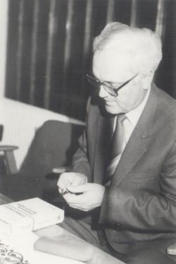 Dedikálás Hódmezővásárhelyen, 1985 októberében