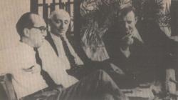 A Televízió Zsákbamacska című műsorában Vas Istvánnal és Abody Bélával (1968)