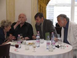 Széles Klára, Ágh István, Lászlóffy Aladár, Csoóri Sándor (2008, DIA)