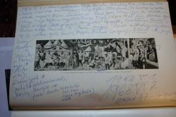 Szentkuthy Miklós széljegyzete a könyvtárában található könyvben tanítványainak látogatásáról
