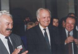 65. születésnapjának köszöntése a Magyarok Világszövetségében, 1995
