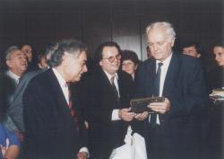 65. születésnapján Csoóri Sándorral