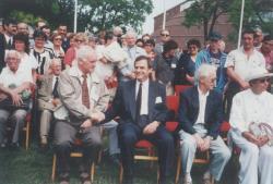 Tőkés Lászlóval a Magyarok Világtalálkozóján, 1996. június 16.