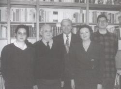 Boór Jánossal, a Mérleg főszerkesztőjével és családjával Münchenben, 1991
