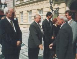 Göncz Árpád látogatása Komáromban, 2000